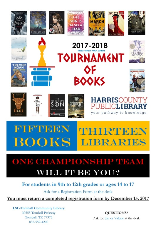 Tournament of Books Poster 2017-2018 TOM